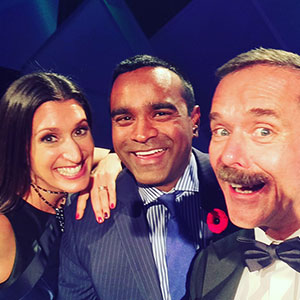 Lianne and Ian at the Bob Awards with Chris Hadfield