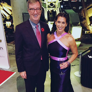 Lianne at a Habitat For Humanity gala with Ottawa Mayor Jim Watson