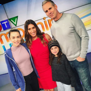 Lianne and family on the set of CTV Morning Live