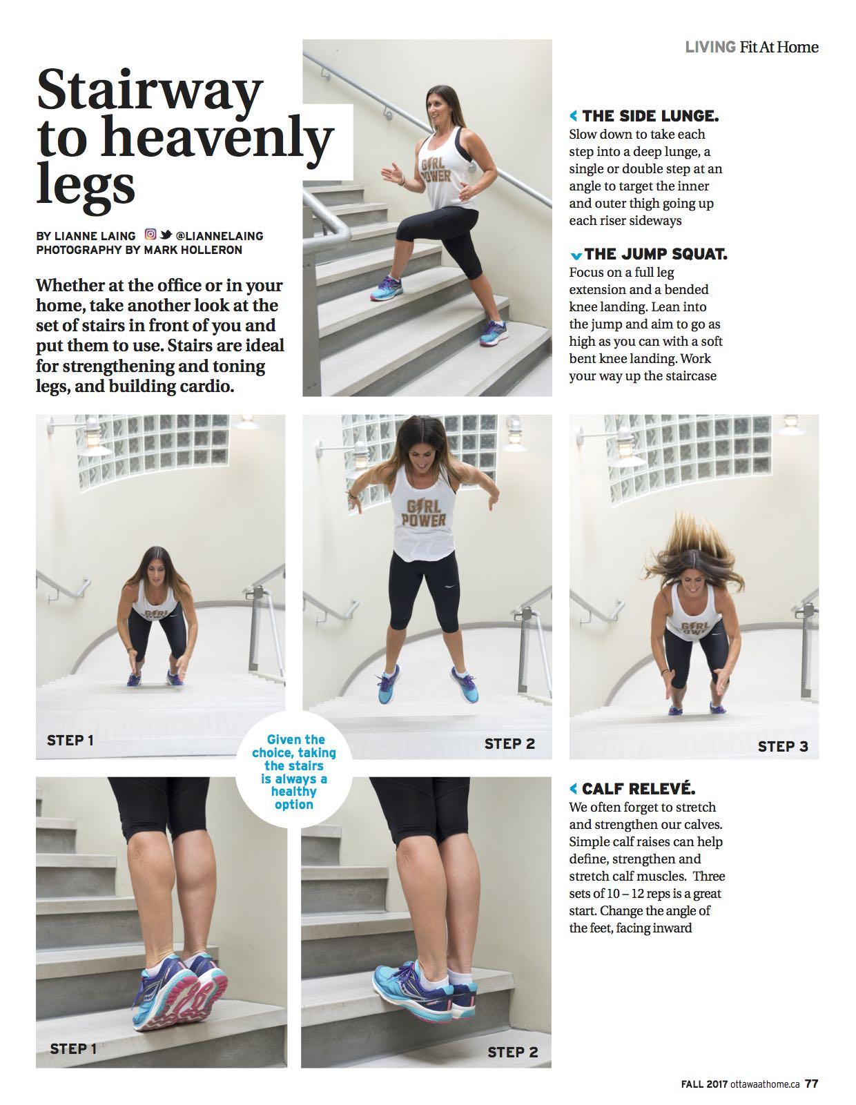 Stairway to heavenly legs